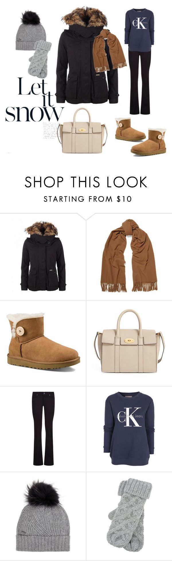 """""""Winter wonderland"""" by majahellstrom on Polyvore featuring Woolrich, Acne Studios, UGG Australia, Mulberry, Paige Denim, Calvin Klein and M&Co"""