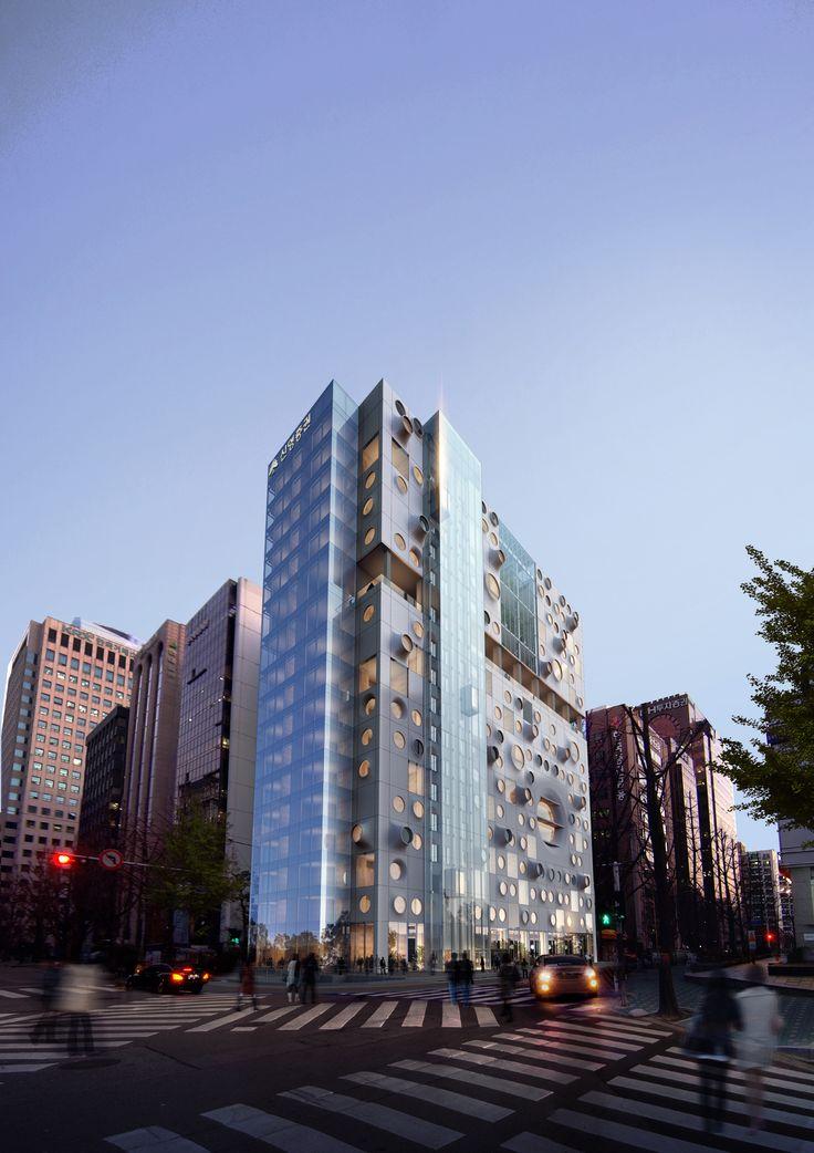 Shinyoung Securities HQ  designed by Alex Yoocheol, Seoinn Design Group