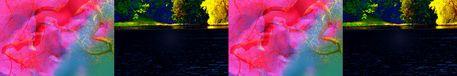 """'Bänderbild """"Licht und Wasser""""' von Rudolf Büttner bei artflakes.com als Poster oder Kunstdruck $18.71"""