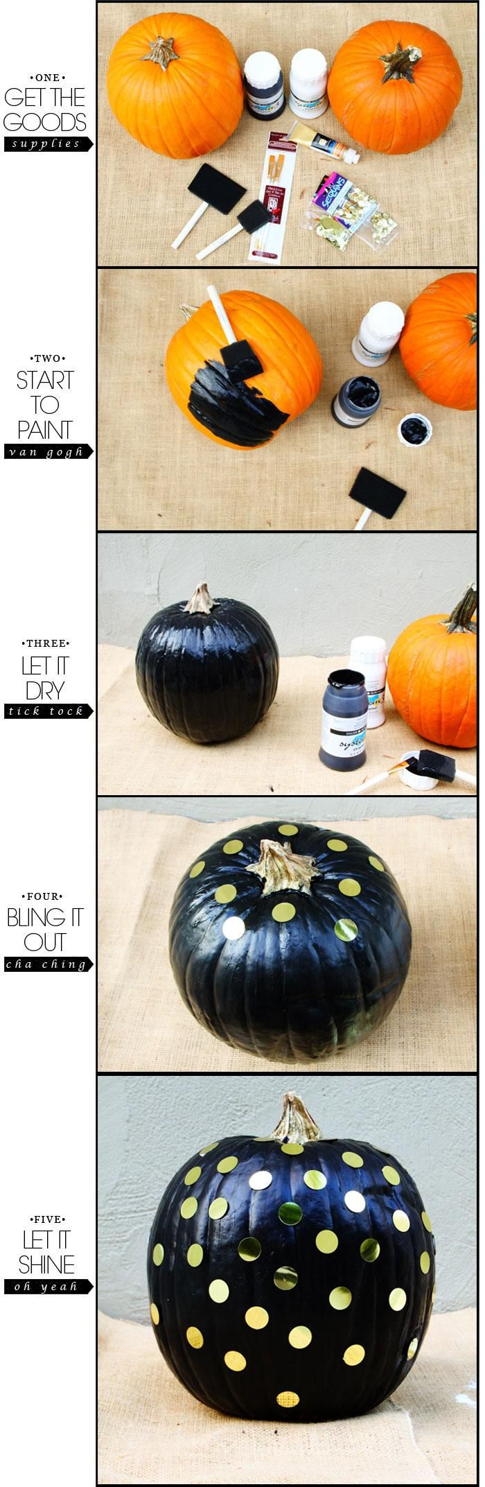 #KatieSheaDesign ♡❤ ❥ DIY #Halloween: DIY Pumpkin Project: DIY Halloween Decor
