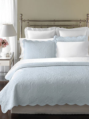 Martha Stewart Collection Bedding, Stenciled Leaves Quilts - Quilts & Bedspreads - Bed & Bath - Macy's