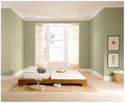 Behr wasabi powder paint for house pinterest behr - Satin paint on walls ...