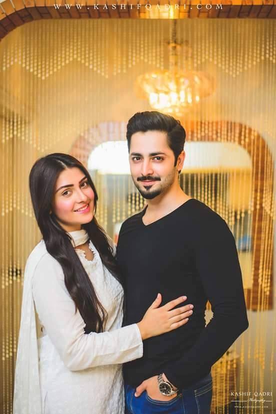 ayeza and danish on their first wedding aniversery
