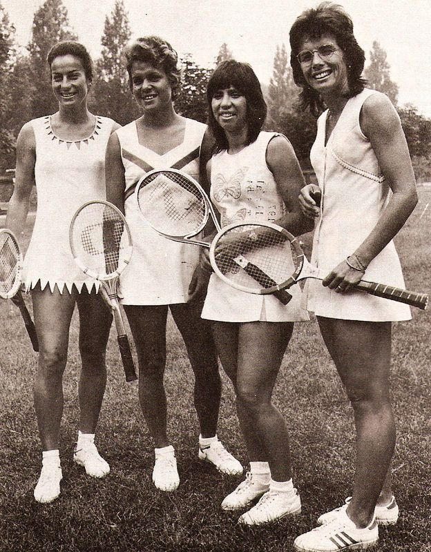 Great ladies from the 70's: Virginia Wade, Evonne Goolagong, Rosie Casals and Billie Jean King