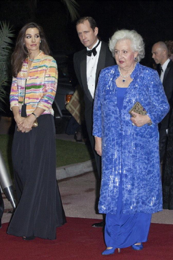 (L-R)Barbara Cano, Bruno Gomez and Infanta Pilar, Duchess of Badajoz attend the Gala Night of the Association Monaco Against Autism