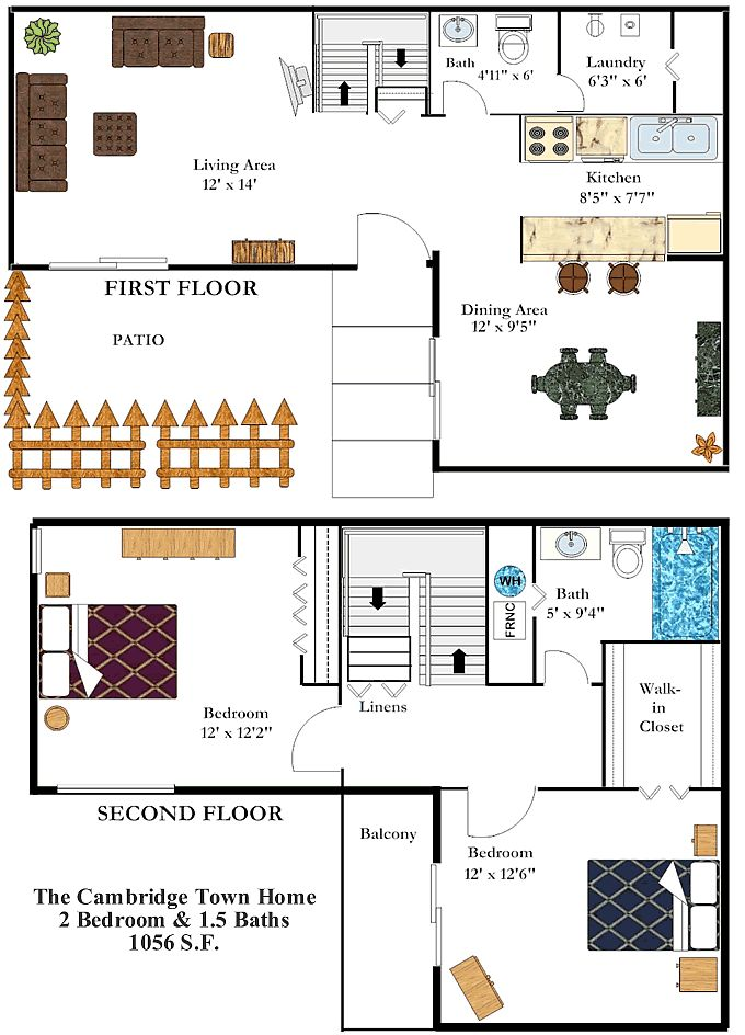 two bedroom 15 bath townhome at barrington square apartments in columbus ohio http - 3 Bedroom Apartments In Columbus Ohio