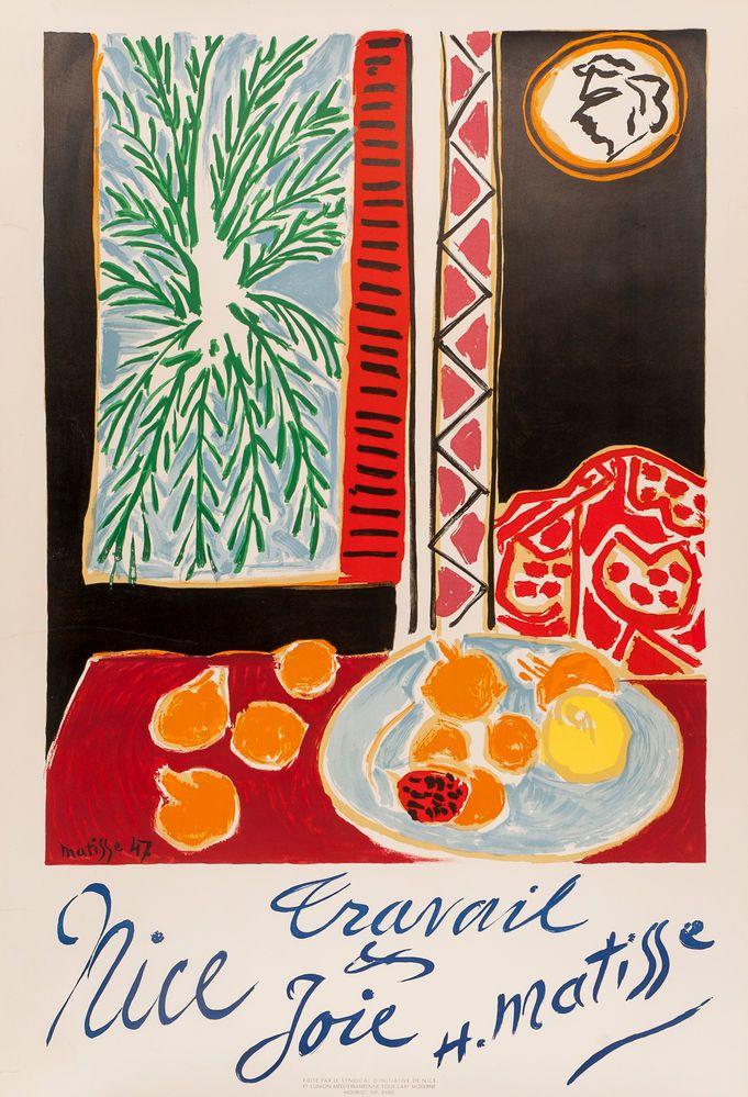 Nice Travail et Joie. Matisse, Henri. Vintage Poster.