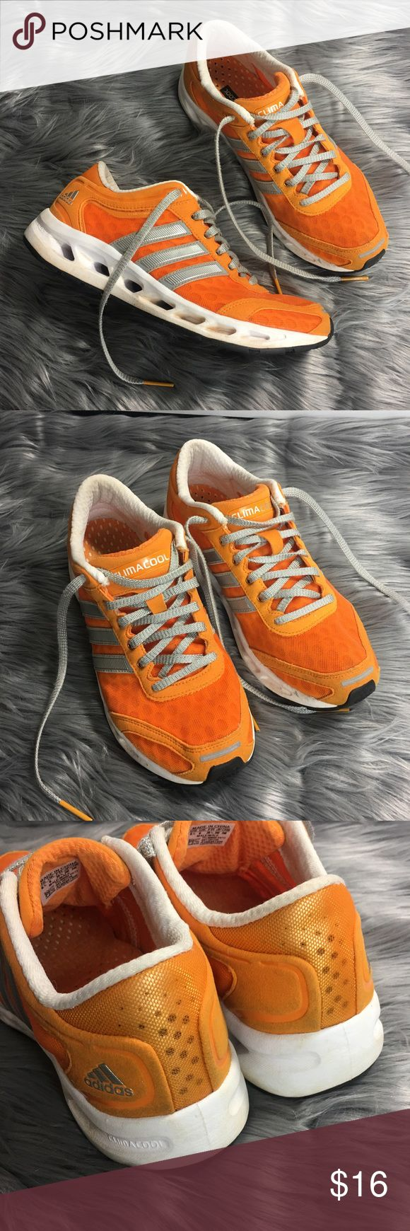 adidas Climacool Orange Silver Running Shoes adidas Climacool Orange Silver Gray Mens Sz 6.5 Womens 8.5 Running Shoes  Nice pre-owned condition, light signs of wear, no flaws Perfect for UT Vols fans!   IK1 adidas Shoes Sneakers