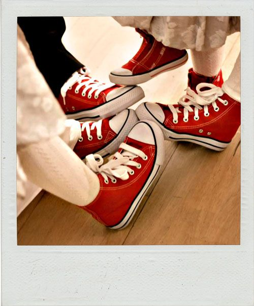 Red Chucks, overdone or cool?