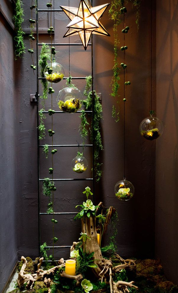 Fabulous The beauty of a secret garden is that it can be placed in the most unexpected of places Air plants and succulents create a simple indoor garden in this