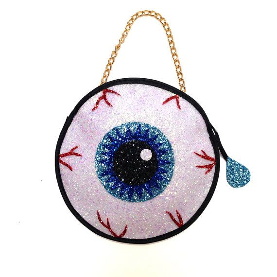 glitter halloween eyeball clutch handbag - Halloween Handbag