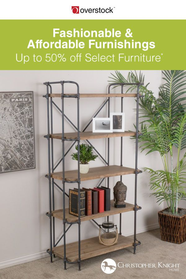 Open shelving not only creates an airy anchor to a room, they create a focal point to display your favorite photos, books, and collectibles. Ready to show off your interests? Shop all the shelving options from Christopher Knight Home and take an Extra 10% off Select Furniture*.