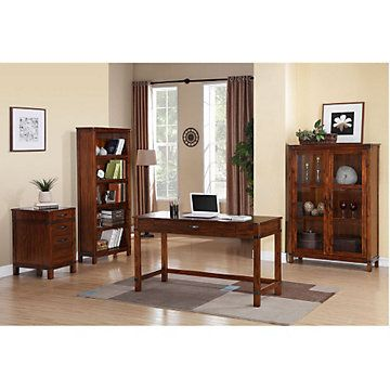 Point Reyes Traditional Small Office Set Laptop Desk Writing Storage Home