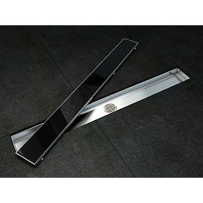 Canalina di Scarico a Pavimento per Docce in Vetro e Acciaio Inox cm 80x9x9,5
