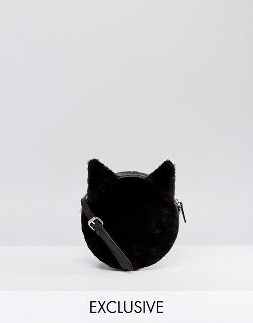 Monki | Monki - Sac bandoulière en fausse fourrure motif chat