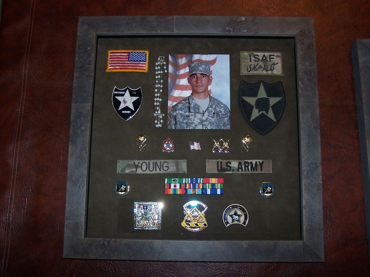Like this military shadow box I have been looking for ideal for Kyle's patches