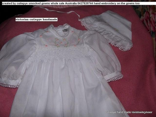 victorian gown smocked hand embroidered by cutiepye australia 0427820733
