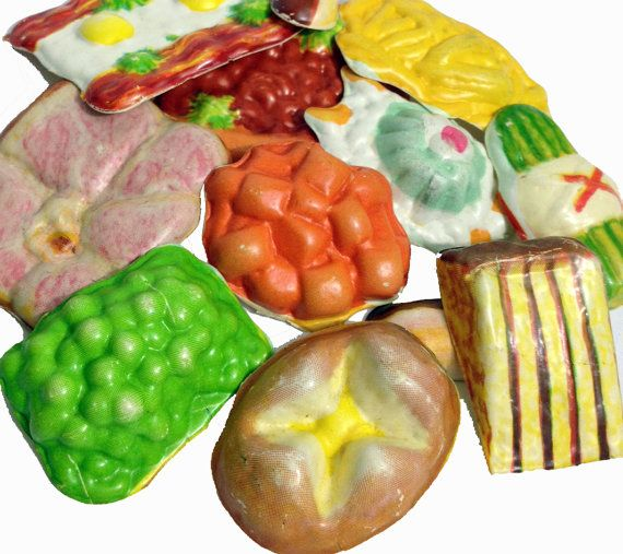 Plastic Toy Food : Pcs tiny pretend foods s vintage plastic kitschy