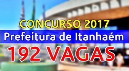 Concurso Prefeitura de Itanhaém 2017