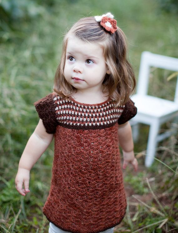 Sweater Dress for Toddler in Natural Alpaca Fall by alpacakids