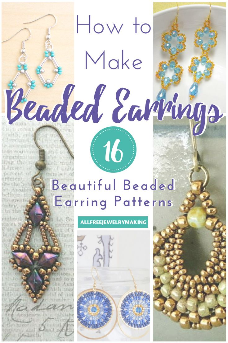 How To Make Beaded Earrings 16 Beautiful Beaded Earring Patterns