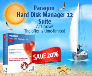 Paragon Hard Disk Manager 12 Professional discount 20%