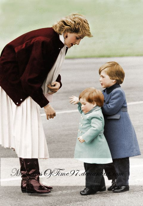 Princess Diana with William and Harry. Lovely pic.