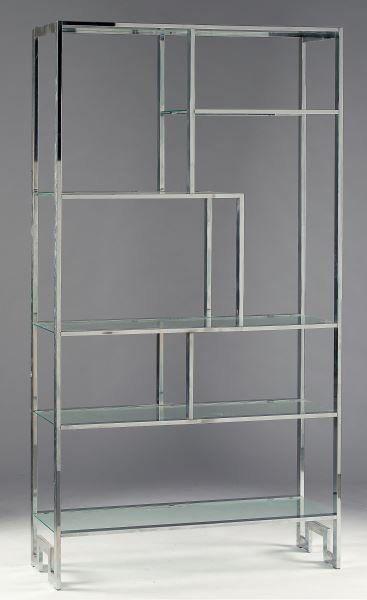 vintage milo baughman chrome etagere shelf sheves by. Black Bedroom Furniture Sets. Home Design Ideas