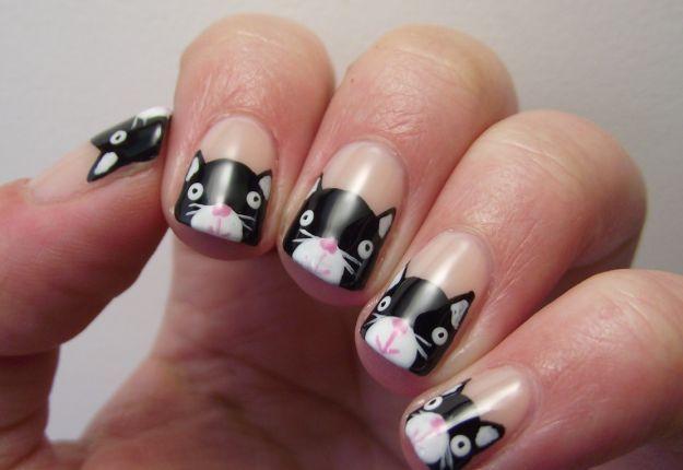 Рисунок котёнка на ногтях ::: onelady.ru ::: #nail #na