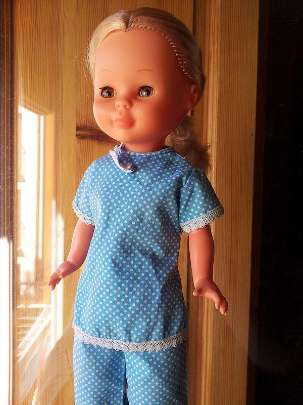 Nancy bollo con pijama original de los 70'