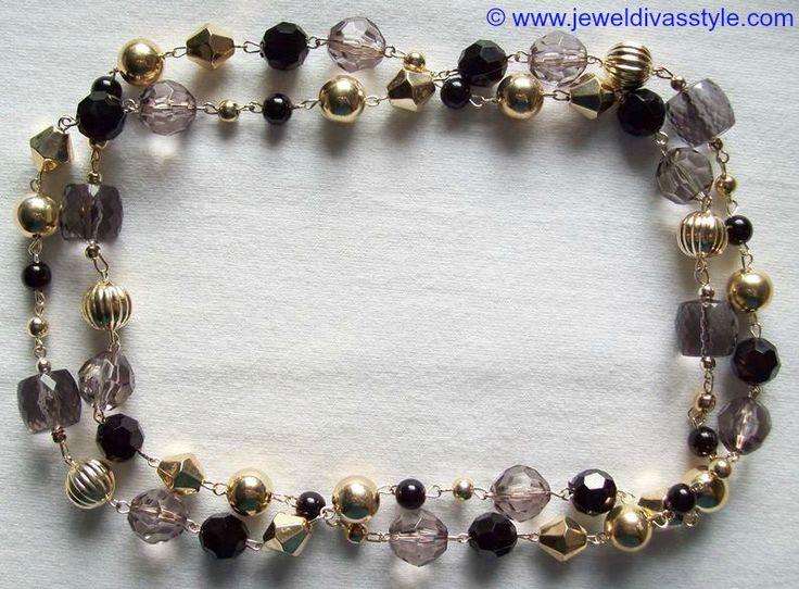 JDS - BLACK & GOLD BEAD NECKLACE - http://jeweldivasstyle.com/my-personal-collection-black-jewellery-13/
