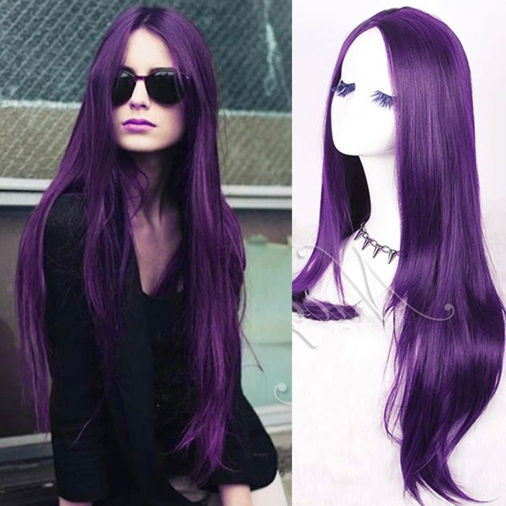 Best 25 long curly weave ideas on pinterest long sew in sew in lady fashion long curly weave wavy purple hair full wigs part bang cosplay party pmusecretfo Choice Image