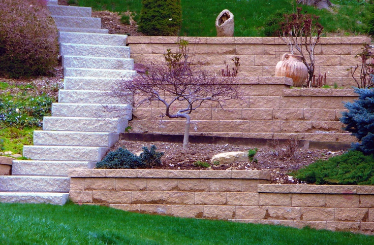 Two Tiered Backyard : tiered landscaping  for the garden  Pinterest