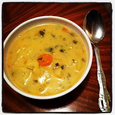 How to make easy-cheesy potato soup!