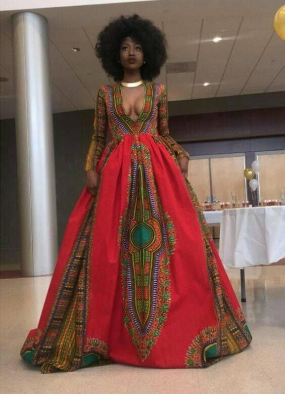 African Women S Clothing Dress Dashiki Maxi