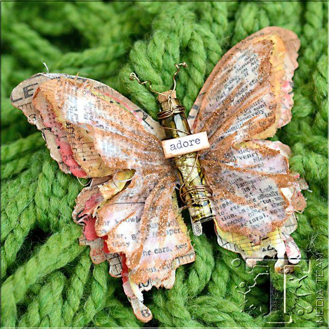 Gypsy Butterfly Brooch by Vicki Boutin | www.timholtz.com
