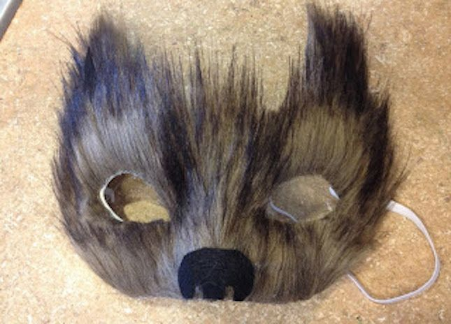 DIY Big Bad Wolf Mask - 65 Animal-Inspired Halloween Costumes | Brit + Co
