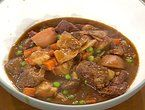 Old Time Beef Stew. Made a few alterations- added steak & soy sauce, used beef broth instead of water,  added more garlic & Worcester sauce and added potatoes. Delicious!