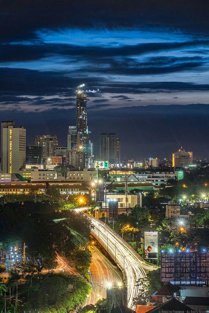 Surabaya, Indonesia | Night city, City, City lights