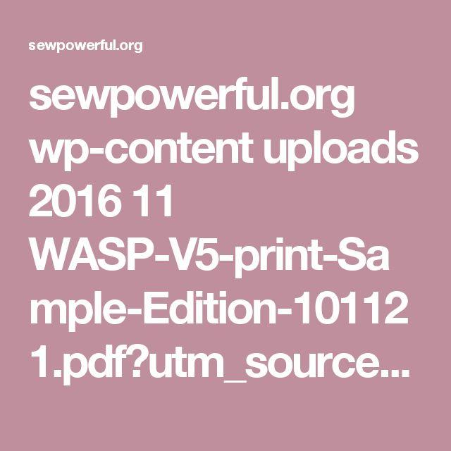 Amazing sewpowerful org wp content uploads WASP V print Sample