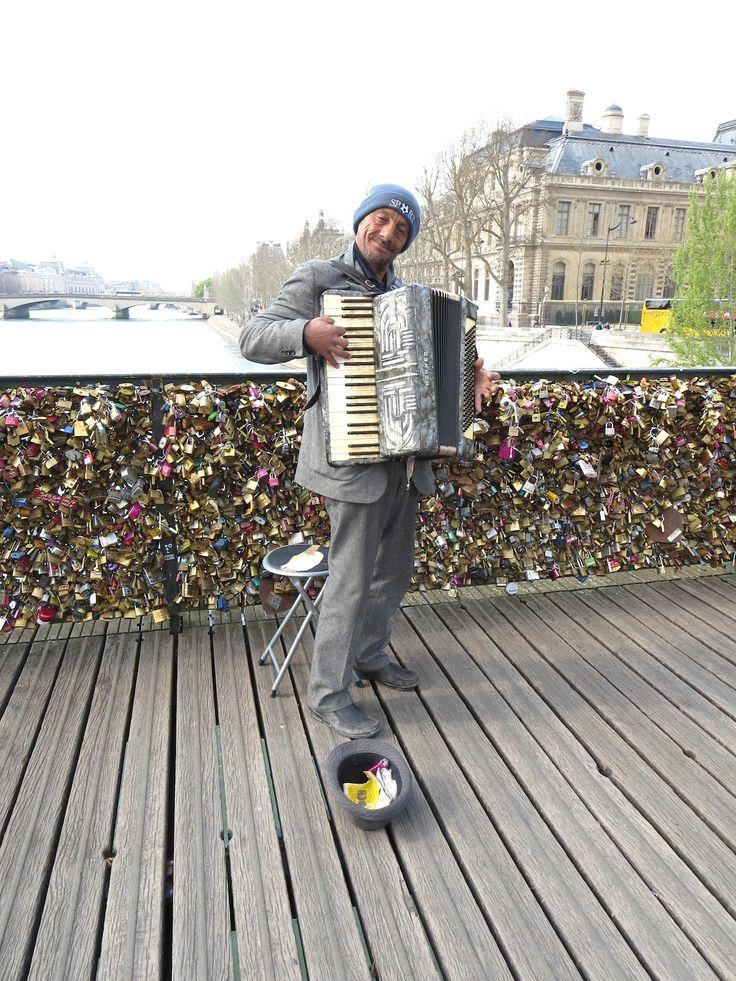 Gypsy accordion player, Pont des Artes, Paris