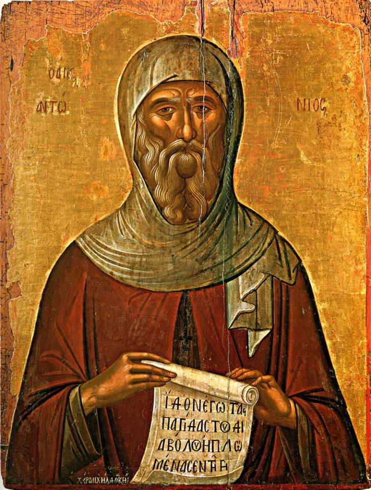 Saint Anthony the Great, on January 17