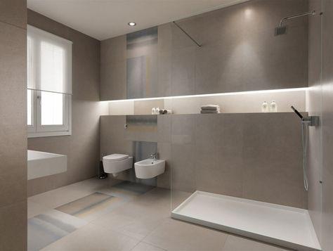 Fesselnd Strenges Design Saubere Art Matter Effekt Badezimmer Fliesen Großformatig