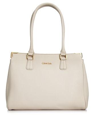 Calvin Klein Handbag, Bedford Leather Satchel - Calvin Klein ...
