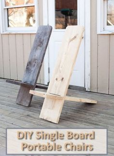 DIY One Board Portable Chair Reuse cedar boards from siding