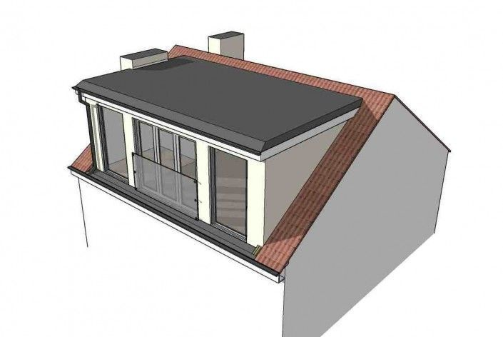 This Rear Of A Terraced Home Has A Flat Roofed Dormer Added To