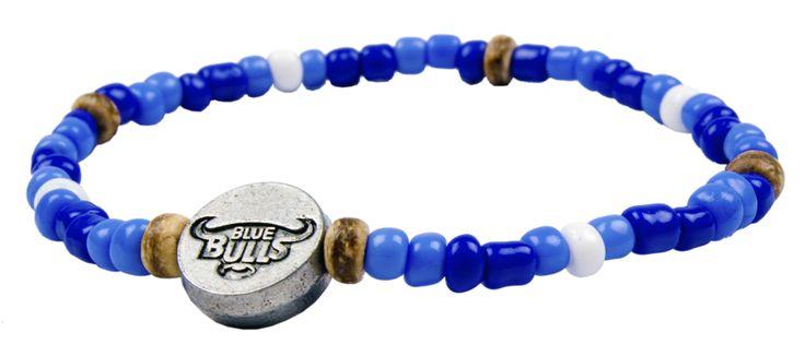 NEW. Official Blue Bulls supporters bracelet R40 each  www.beadcoalition.com