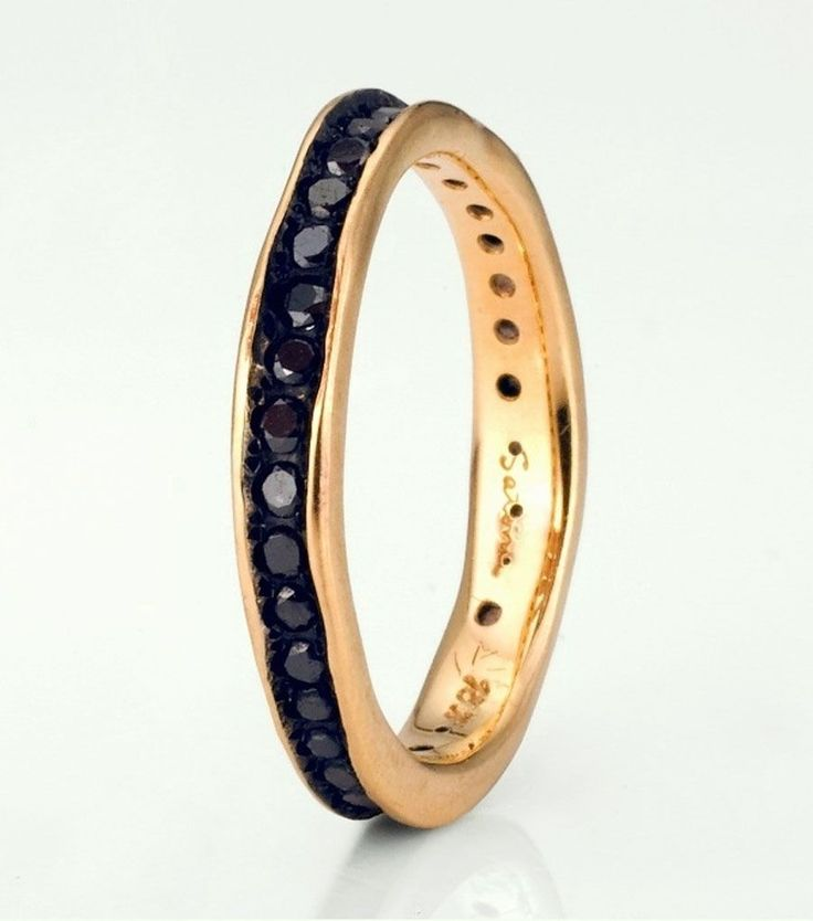Black Diamond Eternity Band by Satomi Kawakita. Non-tradtional wedding bands.