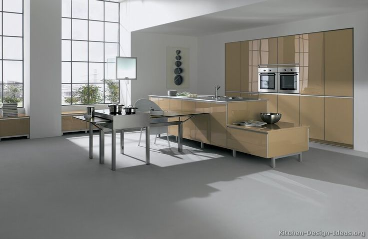 #Kitchen Idea of the Day: Modern Beige Kitchens. (By ALNO, AG)