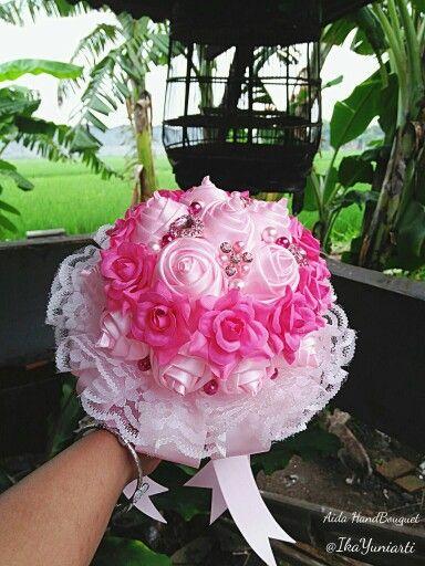 HandBouquet Pink by #AidaBrooch